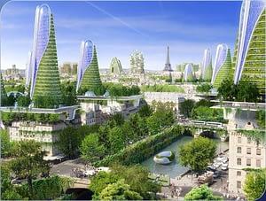 """La visión de Vincent Callebaut de París en el año 2050 como """"Smart City"""""""